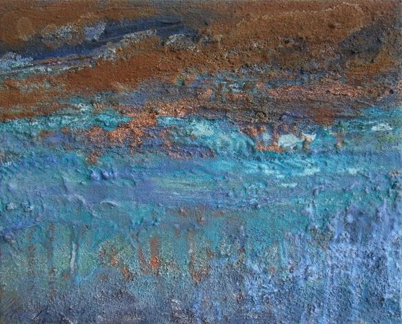 Blaues Feld. 30x40cm