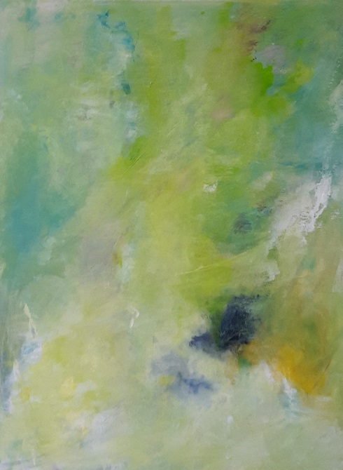 Grüne Wolke, 80x60cm