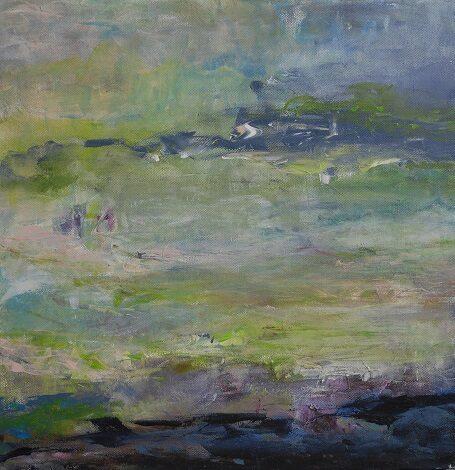 Grüner Nebel 1, 40x40cm